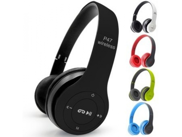 auricular bluetooth p47 - radio / sd