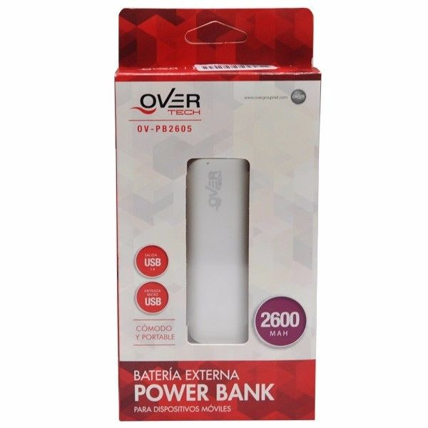 cargador portatil 2600mah power bank over tech