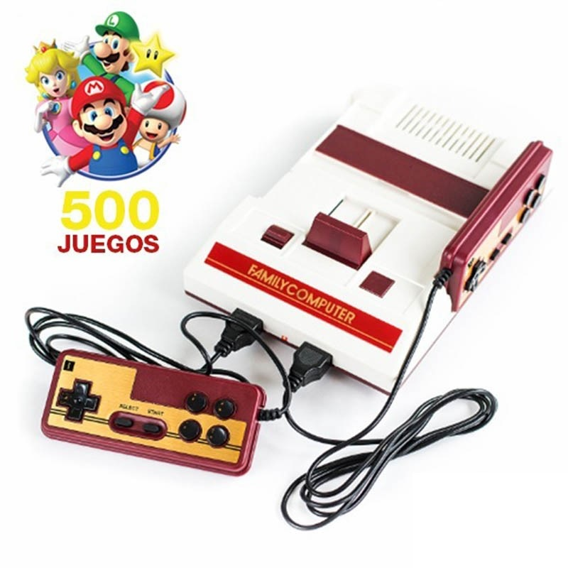 consola retro family game g-106 + 2 joystick + juegos