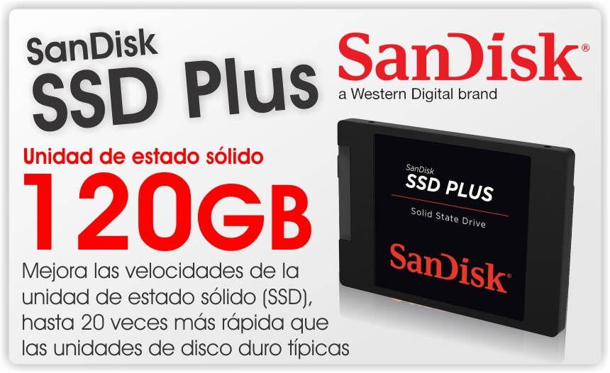 disco solido ssd plus sandisk 120gb