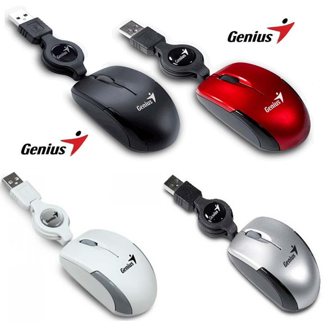 mouse genius retractil micro traveler