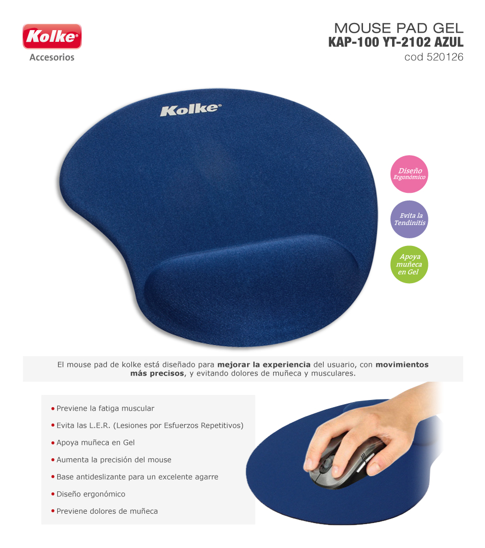 pad mouse gel kolke