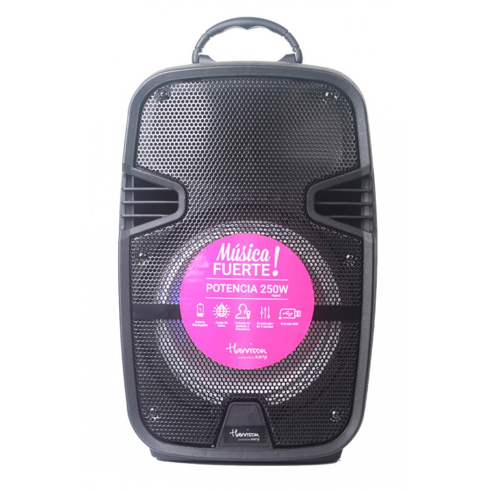 parlante harrison acid 8+1 250w - bluetooth-usb-sd y karaoke