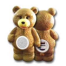parlante portatil oso ted - mp3/radio/usb/bluetooth