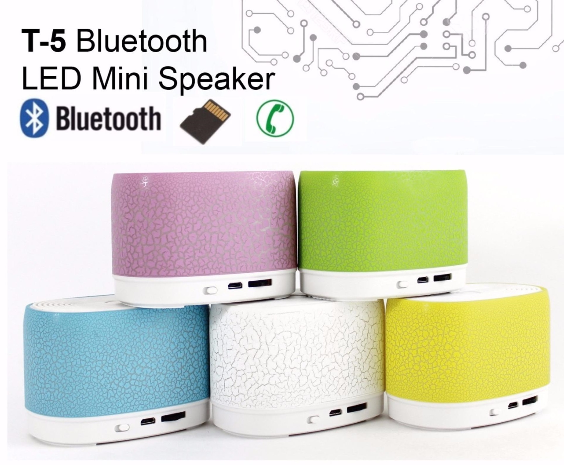 parlante t5 - bluetooth/fm/usb/sd