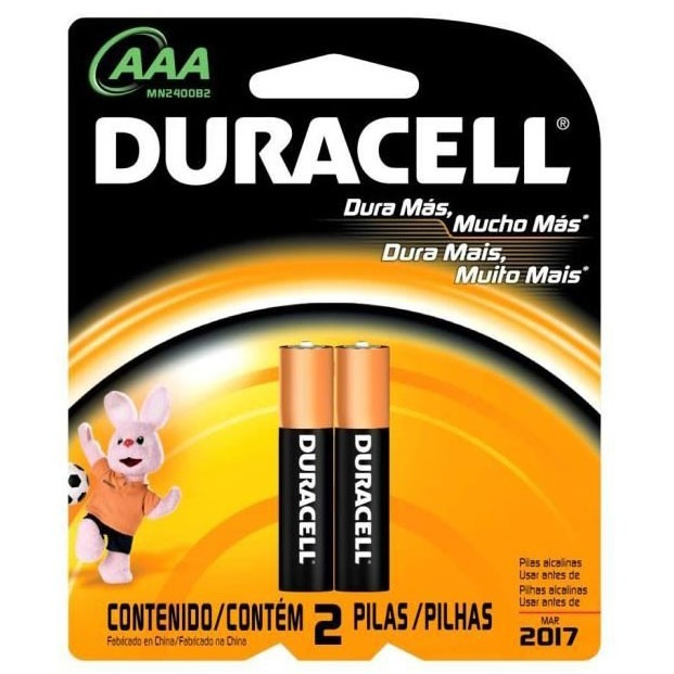 pilas aaa duracell pack x2
