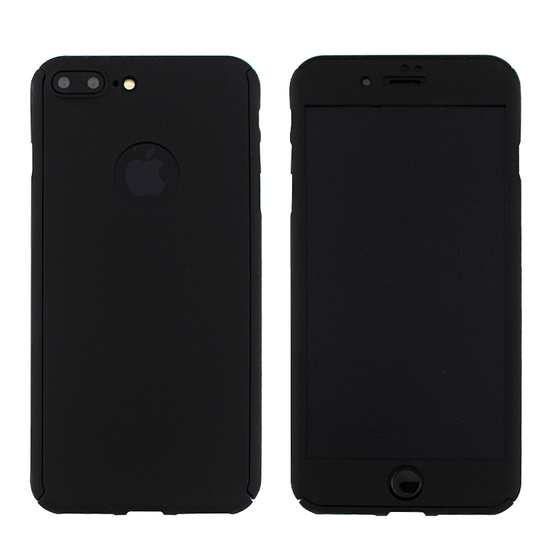 funda rigida 360 + glass iphone 7 4.7 negro