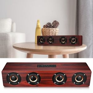parlante wood w8 - bluetooth-usb- aux-fm radio